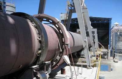 نمایی از کوره دوار کارخانه سیمان یا rotary kiln مربوط به خط تولید سیمان ساخت شرکت پی اس پی