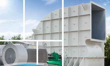 فن سانتریفیوژ صنعتی ضد سایش و ضد انفجار که توسط شرکت ونتی اولده تولید میگردد